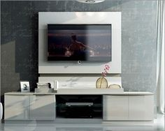 Modern TV Entertainment Center Made in Spain Granada 33410GA