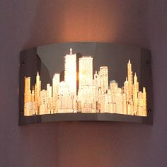 Wall Sconce in Night City Scene, $59.99