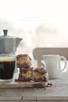 chocolate coffee cake with chocolate almOnd streusel topping