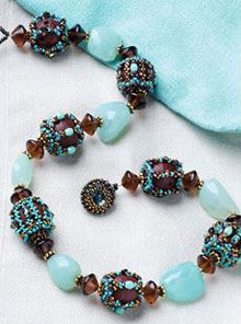 Beaded Beads.  Love the colors