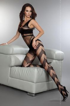 Dangerous Bodystocking a sure pleasure and so pretty too. The banding on the legs is amazingly sensual and the bra top provides the right accent for this body stocking.