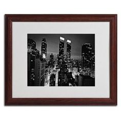 """Trademark Art """"Follow the Lights"""" by Ariane Moshayedi Matted Framed Photographic Print"""