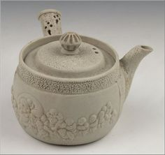 Lovely Antique Chinese Yixing Teapot w/ Relief Characters