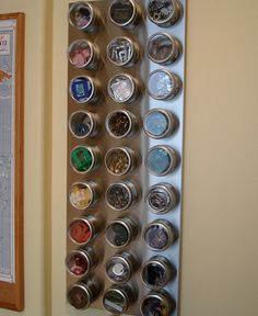Magnetic Tin Craft Storage