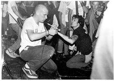 Ian Mackaye and Henry Rollins, Minor Threat show I Love Music, My Music, Music Stuff, Punk Rock, Minor Threat, Henry Rollins, Black Balloons, Post Punk, Actors