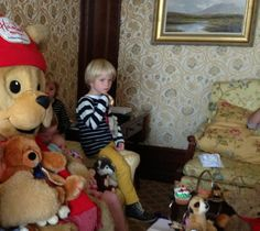 More fun with Hamleys Bear at the launch of the Christmas Teddy Teas