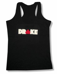 "DRAKE ""HEART"" BLACK RACERBACK TANK TOP SHIRT NEW JUNIORS RAPPER SINGER OFFICIAL"