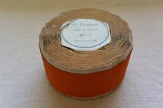 Clementine Orange Vintage Grosgrain Ribbon 1 13/4 by archivetrim, $30.00