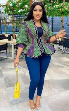 African Dresses For Kids, African Fashion Skirts, Ankara Blouse, Ankara Tops, Nigerian Fashion Designers, Shweshwe Dresses, Clothes For Women Over 50, Blazer Jackets For Women, Kpop Fashion Outfits