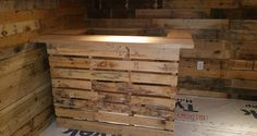 This great pallet project would be perfect for any unfinished space