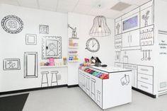 Interior design di un negozio di caramelle