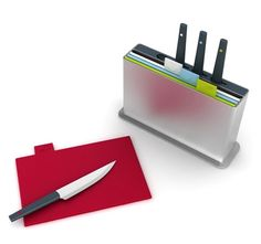 Index Plus $80. Chopping board set with coordinating knives