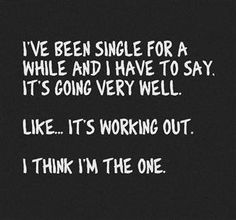 Humor on being single