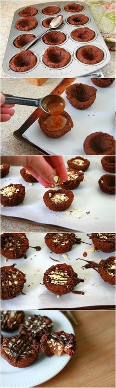Salted Caramel Dark Chocolate Cookie Cups Recipe