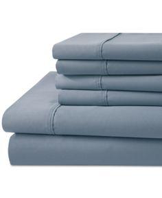 1000 Thread Count 6 Pc Queen Sheet Set Blue Pillowcases Bed Linen