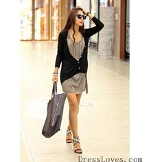 Autumn/Fall New Stylish One Size Cotton Women Black Outerwear@T204b -... ($8.93) via Polyvore