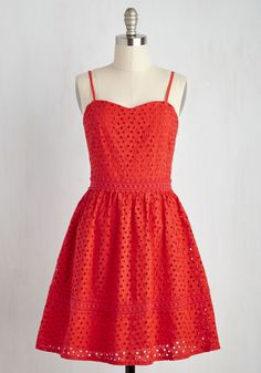 Bring On the Bliss Dress. Ready for a frock thatll uplift you all through the day? #red #modcloth