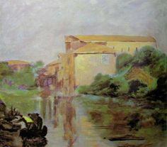 River Scene Painted by Churchill
