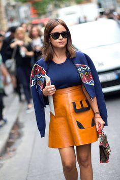 Miroslava Duma, Street Style Paris Couture Fall 2014