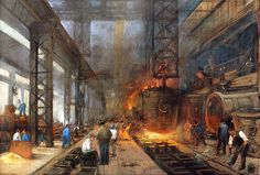 Kohle, Stahl und Maschinenbau werden zu den wichtigsten Industriezweigen