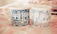 Adorable mugs... DIY idea!