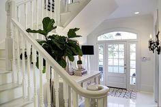 light + lacquer foyer