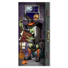 Beistle Witch Restroom Door Cover, 30-Inch by 5-Feet