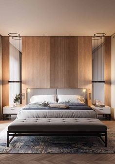 Modern Bedroom Ideas - Seeking the very best bedroom decor ideas? Use these stunning modern bedroom ideas as motivation for your own remarkable designing system . Modern Bedroom Design, Contemporary Interior Design, Master Bedroom Design, Home Decor Bedroom, Bedroom Wall, Home Interior Design, Bedroom Ideas, Small Modern Bedroom, Bedroom Lamps