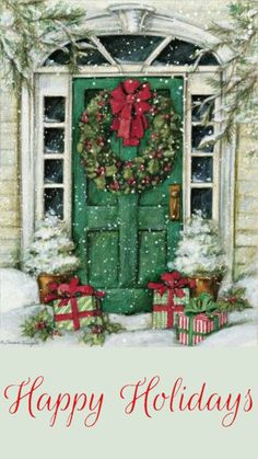 Adarl DIY Full Diamond Painting Rhinestone Snowhouse with Gift Pictures of Crystals Dotz Kits Arts, Crafts & Sewing Cross Stitch Christmas Scenes, Noel Christmas, Winter Christmas, Christmas Crafts, Christmas Decorations, Lang Christmas Cards, Xmas, Illustration Noel, Christmas Illustration