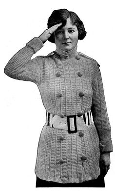 1910s WWI Military Inspired Sweater Coat by WearingHistory on Etsy