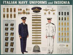 WWII Italian Navy Uniforms and Insignia  http://www.lonesentry.com/blog/italian-navy-uniforms-and-insignia.html