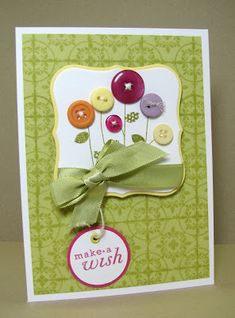 Make a Wish card by Dana - Birthday Buttons