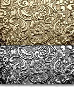 Buy Metal textures 01 - real metal by arktikmann on GraphicRiver. Series 01 of Metal texture backgrounds in original colour and black and white. JPG files provided in high quality Pewter Art, Pewter Metal, Metal Wall Decor, Metal Wall Art, Aluminum Foil Art, Metal Embossing, Metal Engraving, Metal Texture, Antique Boxes