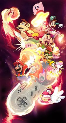 I know Kirby and donkey kong aren't apart of super Mario, but I like this picture so I still pin on my board. I know Kirby and donkey kong aren't apart of super Mario, but I like this picture so I still pin on my board. Donkey Kong, Super Nintendo, Nintendo Games, Super Smash Bros, Super Mario Bros, Super Mario Tattoo, Pokemon, Nintendo Characters, Video Game Characters