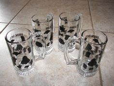 SET OF 4 Braum'S Spotted COW Holstein Frosty Tankard MUG Glasses | eBay
