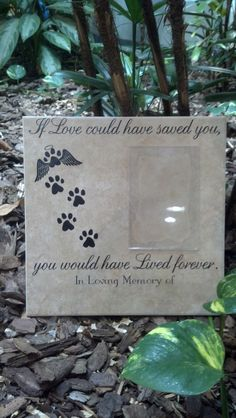 If Love could have saved you, you would have lived forever, Pet Memorial Porcelain Tile by ThatGlassStore on Etsy https://www.etsy.com/listing/125781158/if-love-could-have-saved-you-you-would