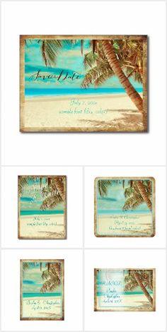 PixDezines Vintage Tropical Beach