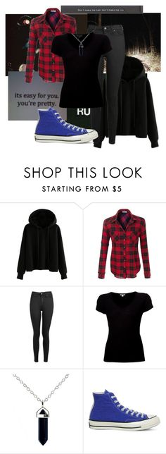 """""""My Outfit for Tomorrow"""" by xxonyx-lightwaterxx ❤ liked on Polyvore featuring Topshop, James Perse and Converse"""