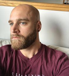 Cawth Bald Men With Beards, Bald With Beard, Beard Fade, Great Beards, Bald Head Man, Shaved Head With Beard, Shaved Heads, Bald Man, Ginger Men