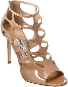 32e213f0ebe6 Jimmy Choo Ren 100 Patent Sandal Best Designer Brands