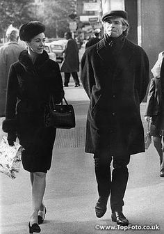 Legendary duo Dame Margot Fonteyn and Rudolf Nureyev take a walk, Vienna, Austria, 1964. They were in Vienna to rehearse Nureyev's production of 'Swan Lake'.