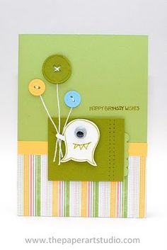 Stampin Up!   Owl Punch Art  Monster, looks like an owl punch that's upside down