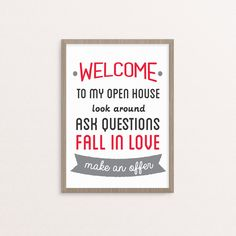 "REAL ESTATE OPEN HOUSE IDEAS Realtor Real Estate open house sign artwork digital print 11x14"" Poster printable instant download YOU PRINT KELLER WILLIAMS.  by RealEstatedesigns on Etsy"