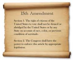 15th Amendment to the U.S. Constitution