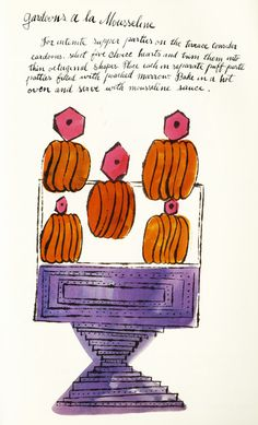 Wild Raspberries: Young Andy Warhol's Little-Known Vintage Cookbook – Brain Pickings The story of a labor-of-love masterpiece that lay dormant for nearly half a century. Alphonse Mucha, Pablo Picasso, Food Illustrations, Illustration Art, Andy Warhol Pop Art, Cake Drawing, Pop Art Movement, Modern Pop Art, Its Nice That