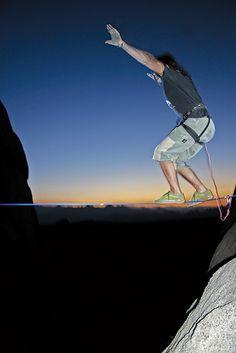 Slacklining, the art of walking along one-inch wide nylon webbing, is a new…