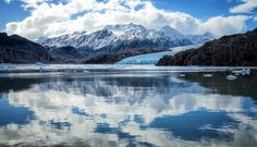 Photograph Glacier and mirror by Martine Guay on Mountains, Mirror, Nature, Photograph, Travel, Fotografie, Voyage, Trips, Mirrors