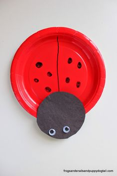 Ladybug Paper Plate Craft on FSPDT