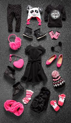 Girls' fashion | Kids' clothes | Black Friday | Dress | Printed jeggings | Graphic tee | Flats | Ear muffs | Hat | Boots | Mitens | Socks | Scarf | Headband | Purse | Sale | The Children's Place
