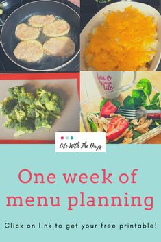 One week of menu planning easy recipes for dinner, on a budget, weekly menus, including free printable with grocery list and recipes for busy families and beginners, meal schedule. Easy Dinner Recipes, Easy Meals, Easy Recipes, Chicken Mashed Potatoes, Pork Schnitzel, Leftover Rotisserie Chicken, Dinner On A Budget, Cottage Pie, How To Double A Recipe